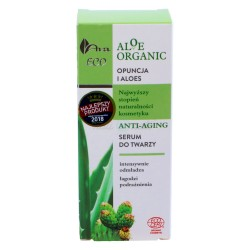Anti-Aging Serum do Twarzy, Opuncja i Aloes, Aloe Organic, Ava Laboratorium, 30ml
